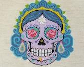 CATALINA Sugar Skull Day of the Dead Cross Stitch Pattern