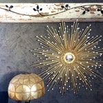 "Gold Starburst mirror / Silver Sunburst Mirror, sputnik mirror 35"" Sparkle & Shine #1013, atomic mirror, farmhouse mirror"