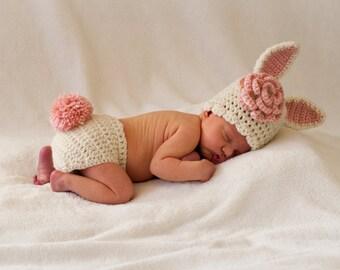 Newborn Baby Bunny Photo Prop Set b925ed4df61