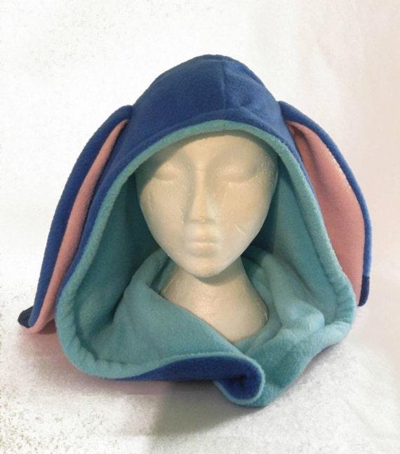 d224cf5a289 Fleece Stitch Inspired Hood Handmade Alien Hat Made to