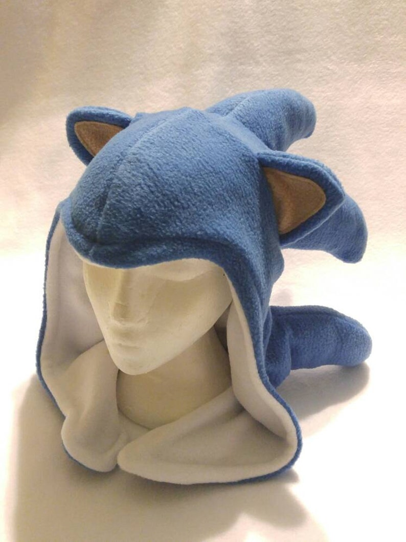 096bc8c3872 Sonic the Hedgehog Inspired Hood Handmade Fleece Hat Made