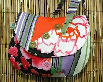 Shoulder bag clutch Collection Lina Patchwork fabrics