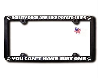 Agility Dogs Potato Chip License Plate Frame