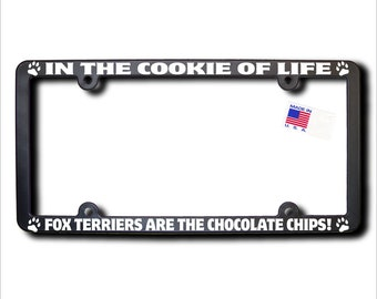 FOX TERRIERS Cookie Of Life License Plate Frame
