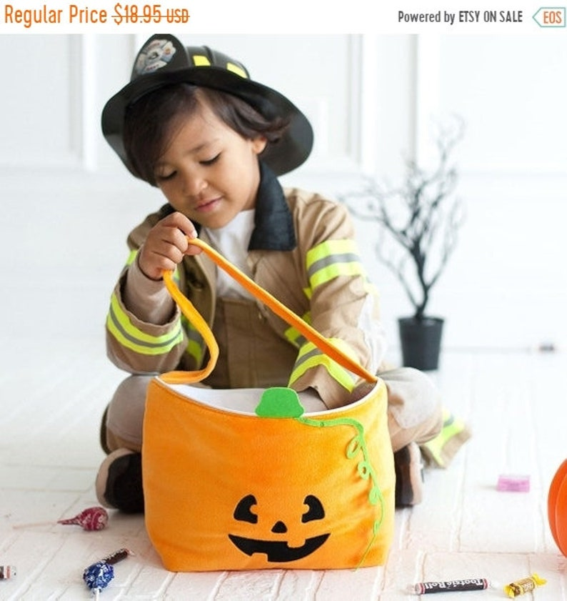 10% OFF Halloween trick or treat bag Personalized Halloween image 1