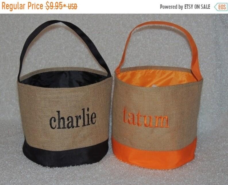 10% OFF Monogrammed Halloween bag  Halloween bucket Beach image 1