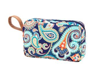 Cosmetic bag, Makeup bag, Monogrammed Makeup bag, Emerson Paisley bag