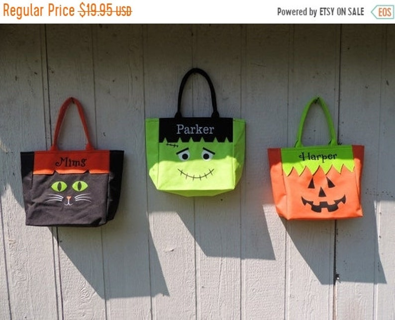10% OFF Trick or Treat bag  Halloween bag Halloween tote image 1