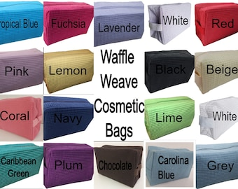 Cosmetic Bag,  make up bag, Top Seller,  Waffle Weave Cosmetics Bag, Toiletry Bag