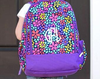 Backpack,  Monogrammed backpack, Petal Punch Backpack, diaper bag