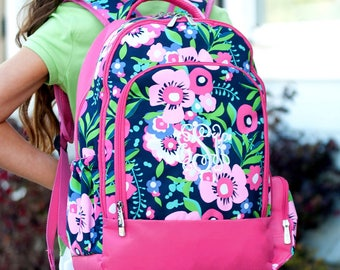 Backpack, Lunch Box, Monogrammed backpack, POSIE back pack, diaper bag IN STOCK