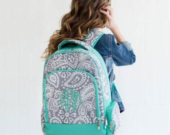 Backpack,  Monogrammed backpack, Paisley Parker back pack, diaper bag
