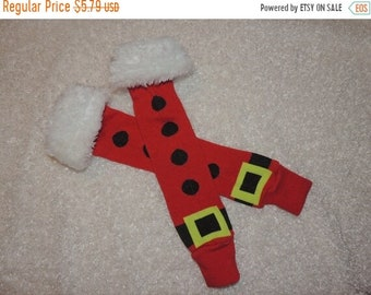 ON SALE Baby leg warmers, Leg Warmers, Santa Suit leg warmers
