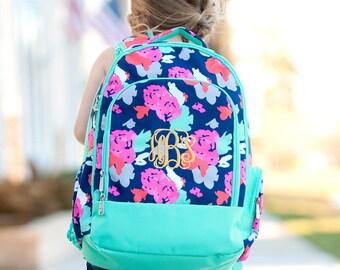Backpack,  Monogrammed backpack, Amelia Backpack, diaper bag