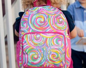 Summer Sorbet Backpack,  Monogrammed backpack, School Backpack, diaper bag, school backpack