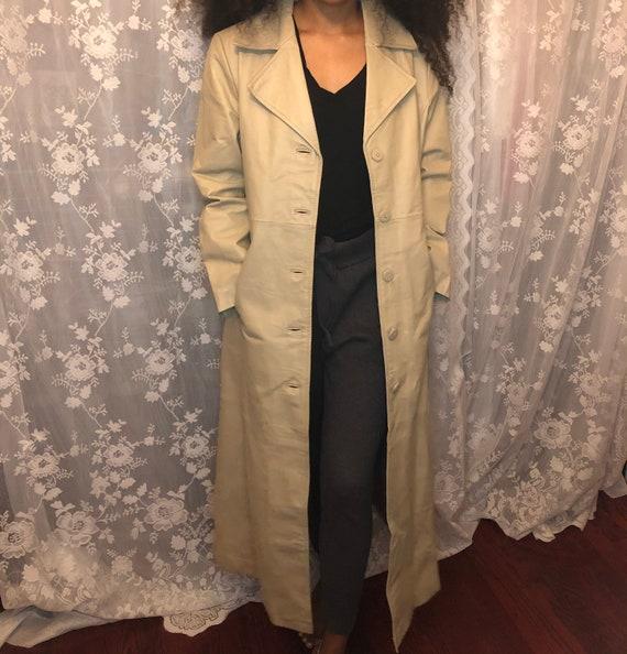 Genuine Leather Trench Coat