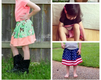 Summer play skirt: a skirt sewing pattern with built in shorts for active play