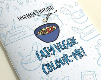 Easy Veggie Colour-Me – illustrated recipes and colouring book