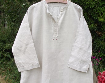 Vintage french embroidered nightdress shift