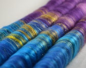Sweet Rolls - Rolags hand blended for spinning - 1 oz increments - quot River Aare Mists quot