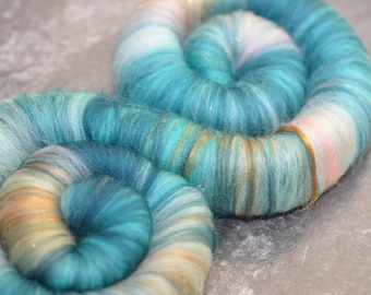 """Sweet Rolls - Rolags - Punis - fiber hand blended for spinning - """"The Waterhorse of Loch Ness"""" - Outlander Inspired"""