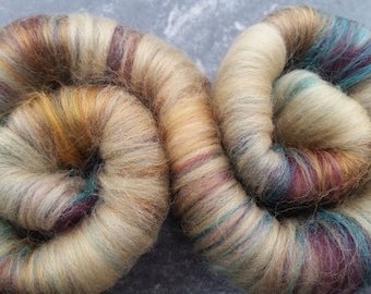 """Sweet Rolls - Rolags hand blended for spinning - 1 oz increments - """"Book of the Dead"""""""