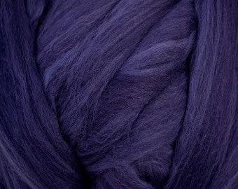 Navy Merino Wool Top Fiber for Spinning Felting Weaving or Blending Boards for Rolags
