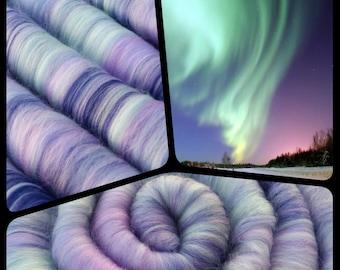 """Rolags - Punis - """"Aurora Borealis"""" - Fiber For Handspinning"""