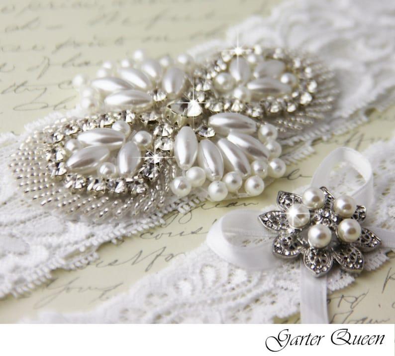 Lace Wedding Garter Ivory Lace Garter Bridal Garter Wedding Garter Set Bridal Garter Set White Lace Garter White Garter