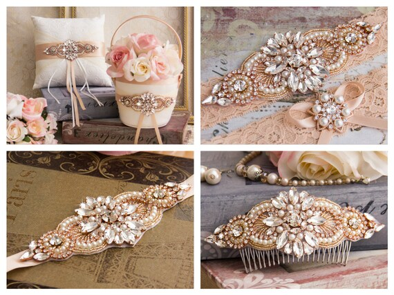 Small luxury mariage faveur boîte avec ruban satin /& vintage pearl cluster