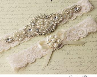 BEST SELLER Wedding garter, Bridal Garter set, wedding garter set, crystal garter, stretch lace garter