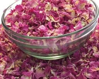 Premium Organic EDIBLE ROSE PETAL Dry Bulk Herbal Tea Natural Calm Stress Relief Immune Boost Heal Soothe Aromatherapy Culinary Vegan Baking