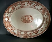 Transferware Platter , Transfer Ware Platter , Keeling and Co Platter , K Co Platter , Antique Meat Plate , Serving Platter