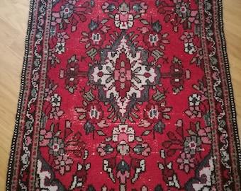 Persian Rug , Hand Knotted Rug , Vintage Rug , Antique Rug