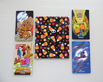 Candy Corn Tarot Bag - Your Choice of Liner Color and Button