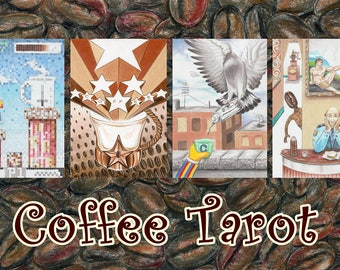 Coffee Tarot with Handmade Tarot Bag