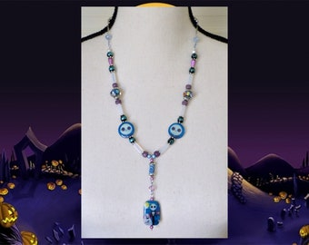 Nightmare Before Christmas Necklace - Jack Skellington Halloween Necklace - Nightmare Before Christmas Costume and Cosplay