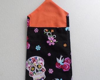 Sparkly Day of the Dead Skull Tarot Bag