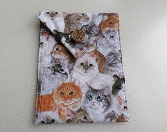 Cat Tarot Bag with Vintage Button