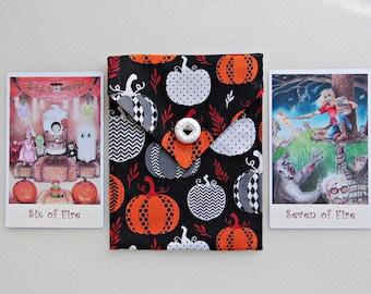 Pumpkin Tarot Bag - Fall Cosmetic Bag