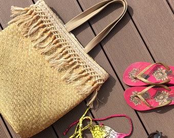 Leather Woven Tote. Straw Tote. Straw Tote Bag. Leather Straw Bag. Summer Straw Bag. Beach Tote Bag. Straw Totes.