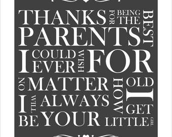Mom & Dad, I love you