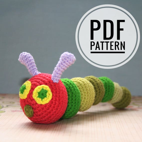 Very Hungry Caterpillar - pattern crochet pdf