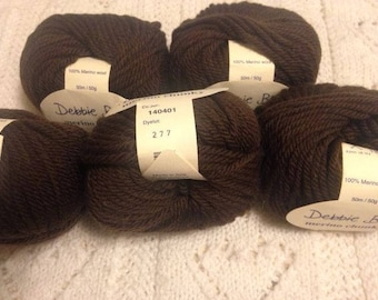 5 Skeins Debbie Bliss Chunky Merino Wool - Chocolate Brown