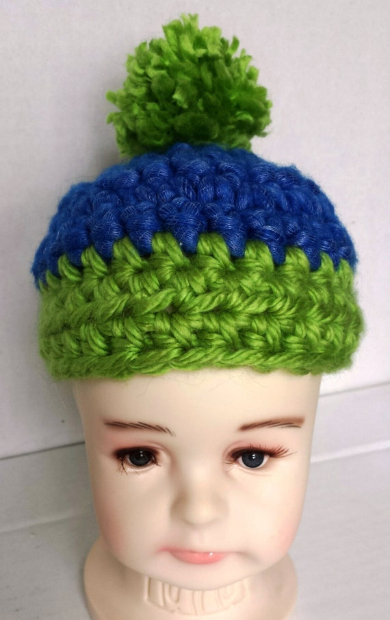 6eb708c6475 Cute Baby Hat Seattle Seahawks Baby Beanie Infant Beanie