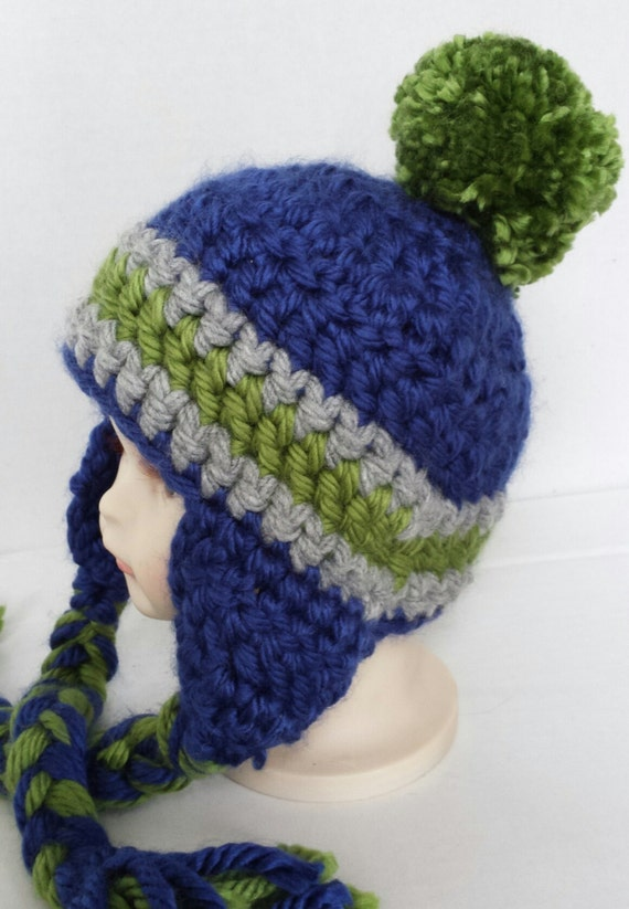 d6a1b67a1c2 Seattle Seahawks Baby Beanie Infant Beanie Toddler