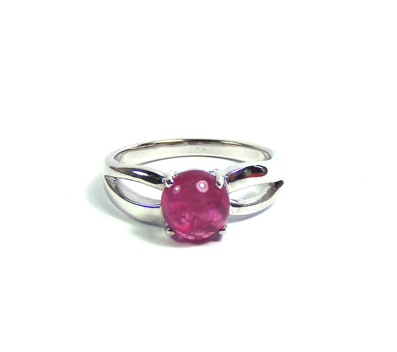 Rubellite Tourmaline ring size US 7 3/4 sterling silver 925 Natural crystal  Oval polished and Unheated gemstone rubelite,