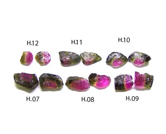 Peridot Garnet Lot of 4 Natural Gemstones Amethyst Watermelon Tourmaline