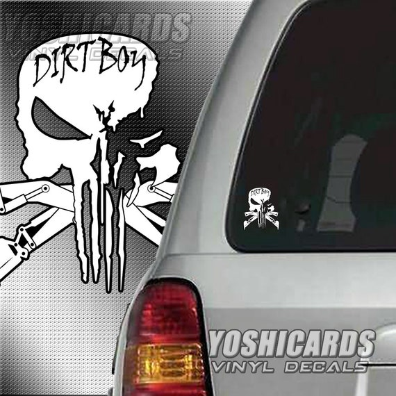 US AIRFORCE PUNISHER SKULL  vinyl car window decal sticker  13 COLORS