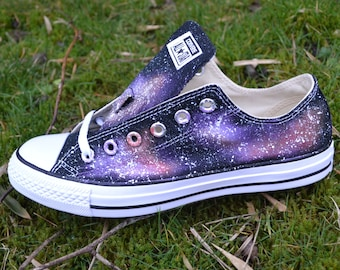 f79d81cbfe7 Galaxy Vans Slip on Custom Vans Custom Sneakers Classic